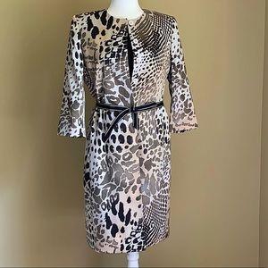 NWOT Albert Nipon Suit Dress w/Leopard Duster Sz 6